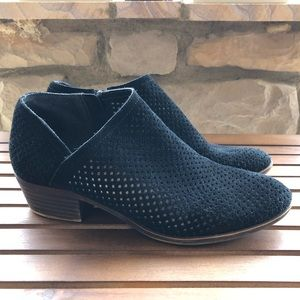 Lucky Brand Baylah Perforated Leather Booties